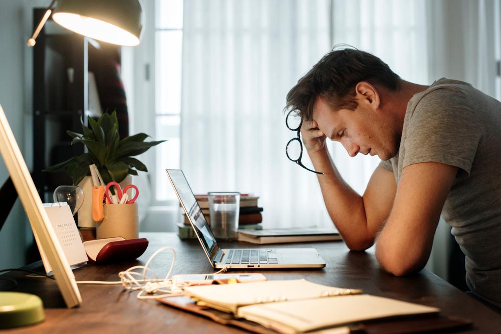 Je hebt weinig energie en je concentratie is minder.